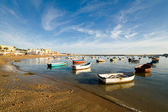 Andalusia,Cadiz port at sunset Royalty Free Stock Images