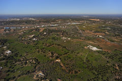 Andalusia countryside. Aerial view of Andalusia countryside Royalty Free Stock Photo