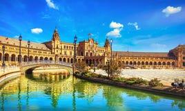 andalusia de espana Europa plaza seville spain arkivfoton
