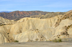 ANDALUSIA DESERT. Cabo de Gata Natural Park in Andalusia, Spain. Deserts Stock Images