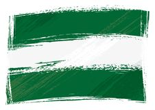 Grunge painted Andalusia flag