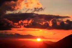 andalusia góry Antequera zbliżać zmierzch obraz royalty free