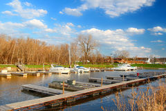 Andalusia Harbor Landscape Illinois Stock Images
