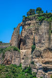 Andalusia landscape, countryside road and rock in Ronda, Spain Stock Photo