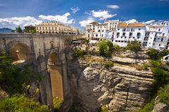 andalusia panorama- ronda spain sikt Royaltyfri Bild