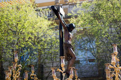 Crucifix. Processions of Holy Week royalty free stock photos