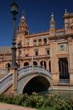 andalusia seville Испания Площадь de Espana, испанский квадрат Стоковое фото RF