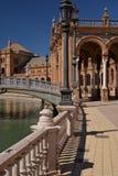 andalusia seville spain Plaza de Espana, spanjorfyrkant Arkivfoto