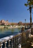 andalusia seville spain Plaza de Espana, spanjorfyrkant Royaltyfri Bild