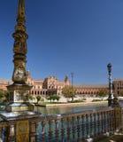andalusia seville spain Plaza de Espana, spanjorfyrkant Fotografering för Bildbyråer