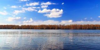 Andalusia Slough Landscape Illinois. Mississippi River landscape seen from Andalusia Slough Recreation Area in Illinois stock photography