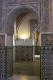 Andalusia, Spain. Andalusia, Alhambra, historical and decorated palace Royalty Free Stock Images