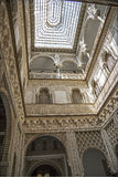 Andalusia, Spain. Andalusia, Alhambra, historical and decorated palace Stock Photos