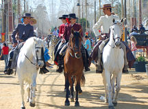 Andalusia, Spain, Fair of horse, Horse parade Stock Photo