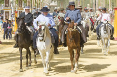 Andalusia, Spain, Fair of Seville horse parade Stock Image