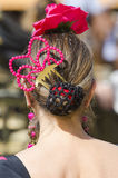 ANDALUSIA, SPAIN, hairstyle typical spanish Stock Photography