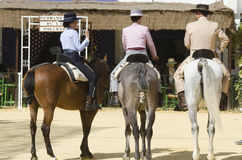 ANDALUSIA, SPAIN, parade horses fair Seville Royalty Free Stock Image