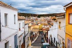 Andalusia Spanien Gator av verklig liten stadAlcala la Royaltyfri Foto
