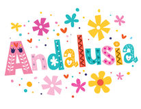 Andalusia vector lettering decorative type