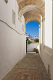 Andalusia,Vejer de la Frontera,seen from archway Royalty Free Stock Photos