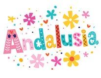 Andalusia wektorowego literowania dekoracyjny typ Obrazy Royalty Free