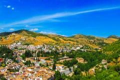andalusian красивейшее село взгляда granada Испании типичное Стоковые Фото