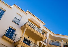 Andalusian architecture. Spanish building with andalusian architecture stock images