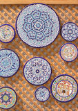 Andalusian ceramic plates Royalty Free Stock Photo