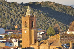 Andalusian church village. Stock Photography