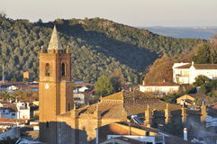 Andalusian church village. Royalty Free Stock Image