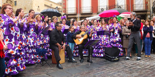Andalusian folk group. Royalty Free Stock Photo