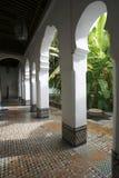 Andalusian garden of Dar Jamai Museum Stock Photography