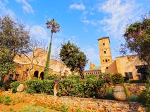 Andalusian Gardens in Rabat, Morocco Royalty Free Stock Photos