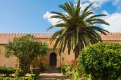 Andalusian gardens in Udayas kasbah Rabat Morocco North Africa Stock Images