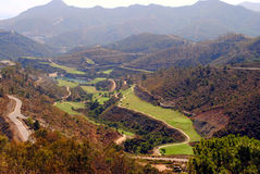 Andalusian golf course. An aerial view of an Andalusian golf course in Spain Stock Photography