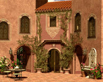 Andalusian Impression. A sunny afternoon on a Mediterranean courtyard Royalty Free Stock Photo