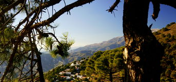 Andalusian Mountain Village Stock Photography