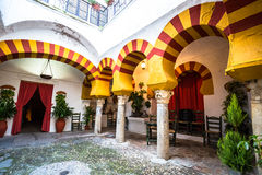 Andalusian patio in Cordoba,Spain Royalty Free Stock Image