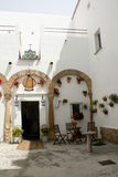 Andalusian patio, details. Stock Photography