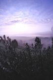 Andalusian soluppgång Arkivfoto
