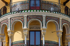 Andalusian style building in Sevilla. Spain Royalty Free Stock Photo