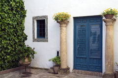 Andalusian style patio. Detail of  Andalusian style patio Stock Photos