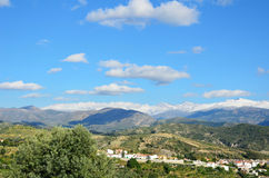 Andalusian view with mountains in spring Royalty Free Stock Photography