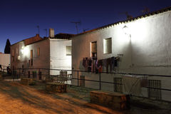 Andalusian village Casares. At night, Costa del Sol, Spain Stock Image