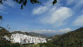 Andalusian village with mountains in the background a sunny day stock video footage