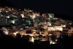 Andalusian village at night Stock Photo