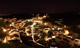 Andalusian village at night, Spain Stock Image