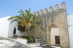Andalusian village, Spain. Vejer de la Frontera is a little town near Cadiz. It is placed on a hill and is characterized from white houses and small streets with Royalty Free Stock Photos