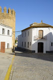 Andalusian village street. Marchena, a village of the province of Seville in Andalusia, Spain Stock Images