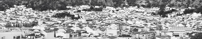 Andalusian village with white facades in Cadiz. Ubrique. Spain. Panoramic view Stock Photo